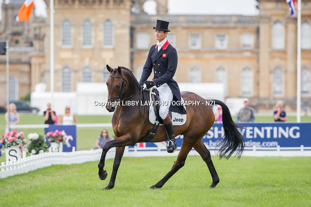 GBR-William Fox-Pitt (FERNHILL PIMMS) INTERIM-3RD: CCI3* SECOND DAY OF DRESSAGE: 2014 GBR-Blenheim Palace International Horse Trial (Friday 12 September) CREDIT: Libby Law COPYRIGHT: LIBBY LAW PHOTOGRAPHY - NZL