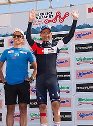 10.07.2015, Kitzbühel, AUT, Österreich Radrundfahrt, 6. Etappe, Lienz auf das Kitzbühler Horn, im Bild v.l.Thomas Rohregger (AUT, Radprofi), Stefan Denifl (AUT, IAM Cycling) // f.l.t.r. Thomas Rohregger and best Austrian rider Stefan Denifl of Austria during the Tour of Austria, 6th Stage, from Lienz to the Kitzbühler Horn, Kitzbühel, Austria on 2015/07/10. EXPA Pictures © 2015, PhotoCredit: EXPA/ Reinhard Eisenbauer