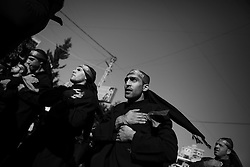 Members of the Shia community often show their grief on Ashoura by beating their chests.