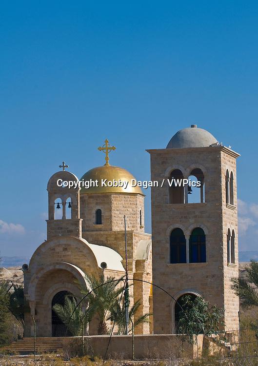 The Greek Orthodox church of St. John the baptist near the Jordan river in Qasr al yahud ( Israel )