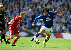 LONDON, ENGLAND - Saturday, April 14, 2012: Everton's Marouane Fellaini in action against Liverpool during the FA Cup Semi-Final match at Wembley. (Pic by David Rawcliffe/Propaganda)