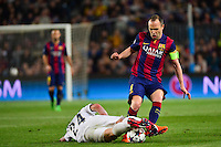Andres INIESTA / Marco VERRATTI - 21.04.2015 - Barcelone / Paris Saint Germain - 1/4Finale Retour Champions League<br />