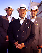 Reverend Tony Muhammad (C) of the Nation Of Islam. Shot at the Nation's No. 39 mosque in South Central Los Angeles..