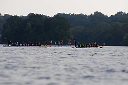 Dragon Boats floating on the Schuylkill River give spectators a close-up spot to the show. (Bastiaan Slabbers/for PhillyVoice)