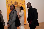 AMA AMPOMSAH; NANA OFORIATTA; DAVID ADJAYE, Chris Ofili private view for the opening of his exhibition. Tate. London. 25 January 2010