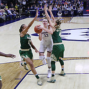 STORRS, CONNECTICUT- NOVEMBER 17: Katie Lou Samuelson #33 of the UConn Huskies drives to the basket defended by Alexis Prince #12 of the Baylor Bears and Kristy Wallace #4 of the Baylor Bears during the UConn Huskies Vs Baylor Bears NCAA Women's Basketball game at Gampel Pavilion, on November 17th, 2016 in Storrs, Connecticut. (Photo by Tim Clayton/Corbis via Getty Images)