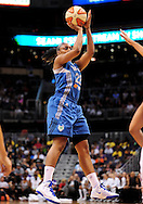 Sep 11, 2011; Phoenix, AZ, USA; Minnesota Lynx guard Monica Wright (22) puts up a shot against the Phoenix Mercury during the first half at the US Airways Center.  The Lynx defeated the Mercury 96-90. Mandatory Credit: Jennifer Stewart-US PRESSWIRE