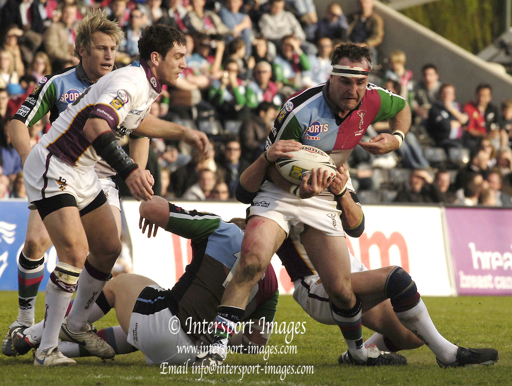 Twickenham, Surrey, ENGLAND, 29.04.2006, Rugby League Quins RL vs Huddersfield Giants, Quins Danny Williams with the ball,  at The Stoop,  © Peter Spurrier/Intersport-images.com.