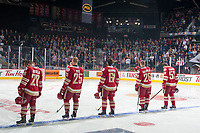 REGINA, SK - MAY 20: Acadie-Bathurst Titan starting line up against the Regina Pats at the Brandt Centre on May 20, 2018 in Regina, Canada. (Photo by Marissa Baecker/CHL Images)