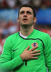 Goalkeeper of Croatia Stipe Pletikosa before  the UEFA EURO 2008 Group B soccer match between Austria and Croatia at Ernst-Happel Stadium, on June 8,2008, in Vienna, Austria.  (Photo by Vid Ponikvar / Sportal Images)