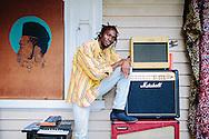 Ugandan dancehall artist in Melbourne.<br /> On the set of his Unnu Betta Run video shoot. Footscray, Melbourne, Australia