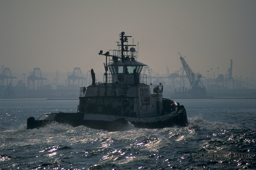 Tugboat at the Port of Los Angeles, San Pedro, California