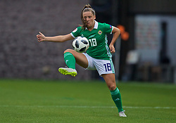 NEWPORT, WALES - Tuesday, September 3, 2019: Northern Ireland's Megan Bell during the UEFA Women Euro 2021 Qualifying Group C match between Wales and Northern Ireland at Rodney Parade. (Pic by David Rawcliffe/Propaganda)