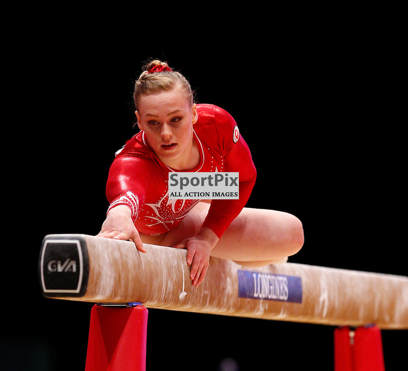 2015 Artistic Gymnastics World Championships being held in Glasgow from 23rd October to 1st November 2015...Elsabeth Black (Canada) competing in the Balance Beam competition...(c) STEPHEN LAWSON | SportPix.org.uk