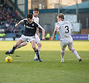 Dundee&rsquo;s Paul McGinn takes on Inverness&rsquo; Greg Tansey and Carl Tremarco - Dundee v Inverness Caledonian Thistle - Ladbrokes Scottish Premiership at Dens Park<br /> <br />  - &copy; David Young - www.davidyoungphoto.co.uk - email: davidyoungphoto@gmail.com
