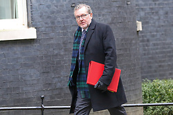 © Licensed to London News Pictures. 05/02/2019, London, UK. David Mundell - Secretary of State for Scotland arrives in Downing Street for the weekly Cabinet meeting. Photo credit: Dinendra Haria/LNP