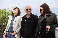 Actress Charlotte Gainsbourg, Director Gaspar Noe and actress Béatrice Dalle at Lux Aeterna film photo call at the 72nd Cannes Film Festival, Sunday 19th May 2019, Cannes, France. Photo credit: Doreen Kennedy