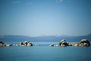 Lake Tahoe, Nevada kayaks on the lake.