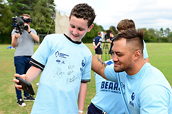 Jack Lam signs autographs for fans at the Bristol Bears Community Foundation Summer Holiday Camp at Old Bristolians RFC - Mandatory by-line: Dougie Allward/JMP - 15/08/2018 - Rugby