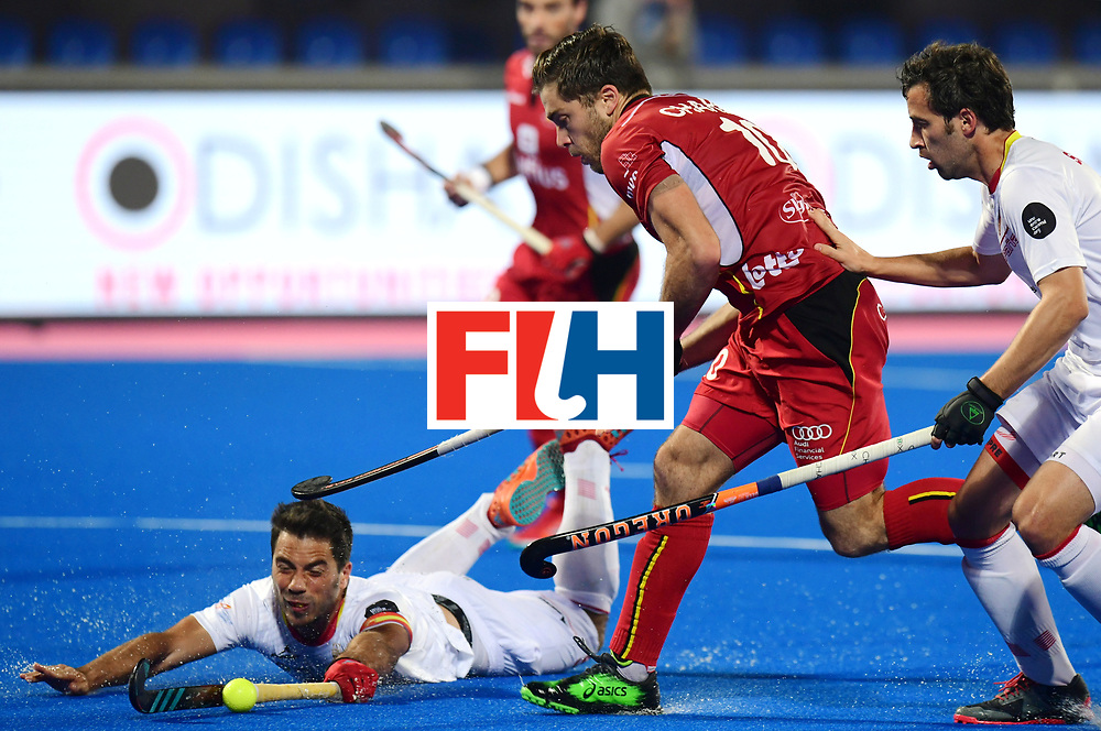 Odisha Men's Hockey World League Final Bhubaneswar 2017<br /> Match id:07<br /> Belgium v Spain<br /> Foto: Cedric Charlier (Bel) <br /> WORLDSPORTPICS COPYRIGHT FRANK UIJLENBROEK