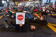 London: Cycling safety protest against HGV lorries and pollution, 31 Oct. 2016