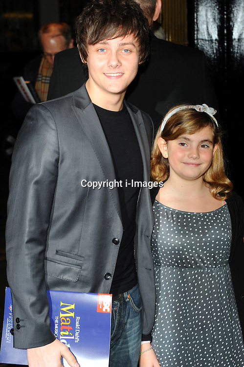 Tyger Drew-Honey & Ramona Marquez at the press night of Matilda The Musical in London , Thursday 24 November, 2011..Photo by: i-Images