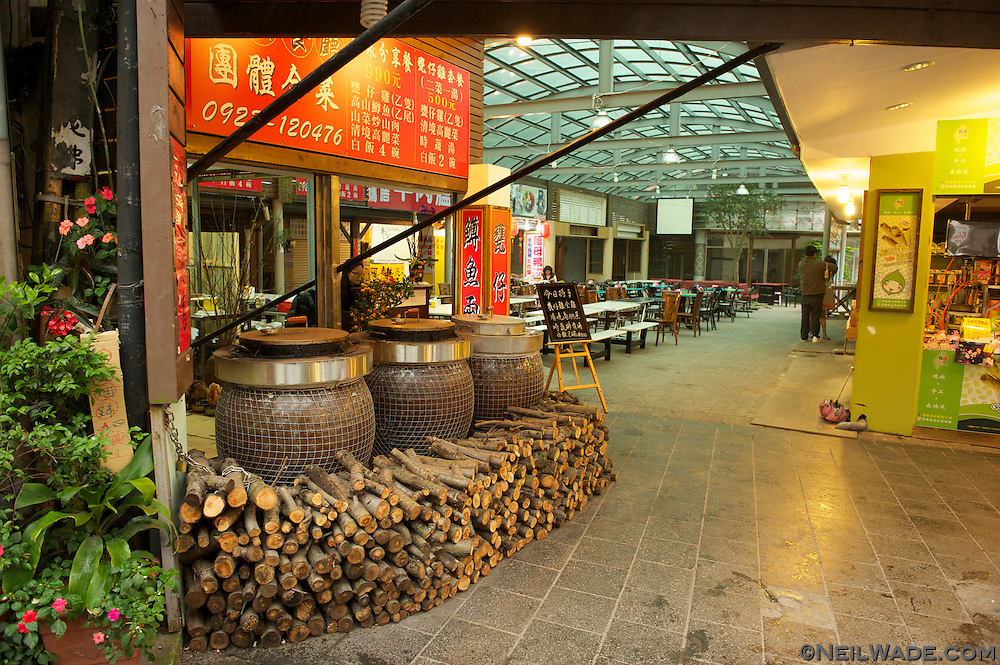 Lushan is full of restaurants with character.