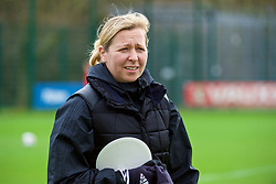 NEWPORT, WALES - Tuesday, April 3, 2018: Wales' manager Jayne Ludlow during a training session at Dragon Park ahead of the FIFA Women's World Cup 2019 Qualifying Round Group 1 match between England and Wales. (Pic by Rebecca Neaden/Propaganda)