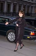 Cherie Blairarriving at the opening of Masterpieces from Dresden at the Royal Academy, London. 12 March 2003. © Copyright Photograph by Dafydd Jones 66 Stockwell Park Rd. London SW9 0DA Tel 020 7733 0108 www.dafjones.com
