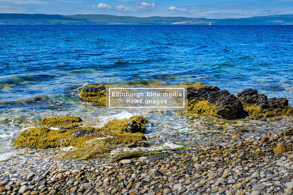 Seascape on the west coast of Arran, Scotland looking towards the Mull of Kintyre<br /> <br /> (c) Andrew Wilson | Edinburgh Elite media