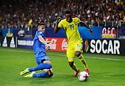 LUBLIN, POLAND - 2017-06-22: Milan &Scaron;kriniar och Niclas Eliasson under UEFA U21 matchen mellan Slovakien och Sverige p&aring;  Arena Lublin den 22 juni, 2017 i Lublin, Polen. <br /> Foto: Nils Petter Nilsson/Ombrello<br /> Fri anv&auml;ndning f&ouml;r kunder som k&ouml;pt U21-paketet.<br /> Annars Betalbild.<br /> ***BETALBILD***