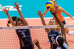 06-06-2018 NED: Volleyball Nations League Netherlands - Italy, Rotterdam<br /> Yvon Belien #3 of Netherlands, Maret Balkestein-Grothues #6 of Netherlands