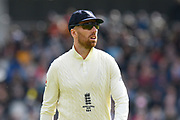 Jack Leach of England during the International Test Match 2019, fourth test, day two match between England and Australia at Old Trafford, Manchester, England on 5 September 2019.