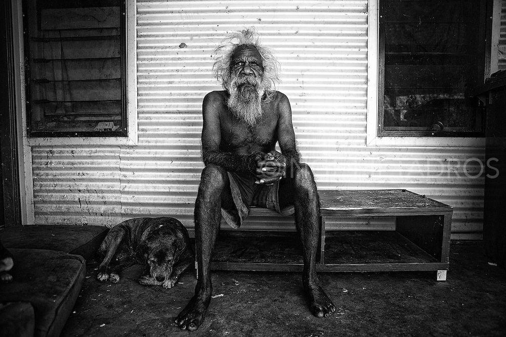 """""""They had no more use for Aboriginal people""""..,""""when they closed down the stations we lived in, they moved us out, that's how Balgo and surrounding communities started."""" Hityer Gordon, Kununarra, Western Australia."""