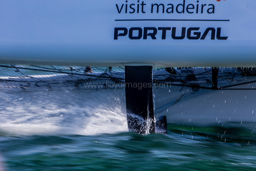 The Extreme Sailing Series 2016. Visit Madeira:Diogo Cayolla, Frederico Melo, Luís Brito, Gilberto Conde, Tom Buggy  .Act 8.Sydney,Australia. 8th-11th December 2016. Credit - Jesus Renedo/Lloyd Images