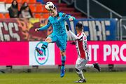 TILBURG - 19-02-2017, Willem II - AZ, Koning Willem II Stadion, 1-1, AZ speler Mattias Johansson, Willem II speler Anouar Kali