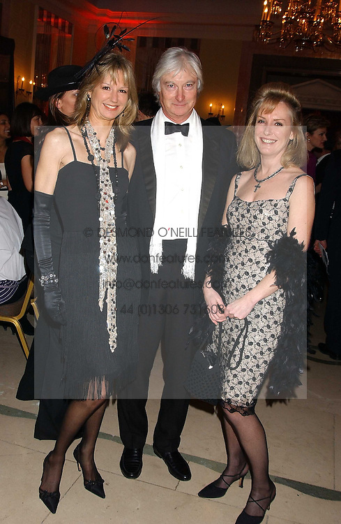 FIONA SANGSTER, PRINCE NICHOLAS VON PREUSSEN and SARAH MACMILLAN at A Riot - 1930's evening in aid of Great Ormand Street Hospital held at Claridge's, Brook Street, London on 31st January 2006.<br />