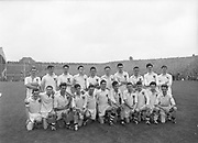GAA All Ireland Minor Football Final Cork v. Galway 26th September 1960 Croke Park<br /><br />The Galway Team *** Local Caption *** It is important to note that under the COPYRIGHT AND RELATED RIGHTS ACT 2000 the copyright of these photographs are the property of the photographer and they cannot be copied, scanned, reproduced or electronically stored in any form whatsoever without the written permission of the photographer  26th September 1960<br /> <br /> All Ireland Minor Football Final between Cork and Galway at Croke Park.