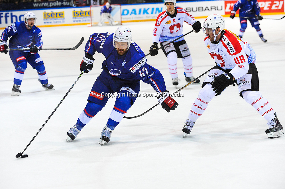 Teddy TRABICHET - 24.04.2015 - France / Suisse - Match Amical -Grenoble<br />Photo : Jean Paul Thomas / Icon Sport