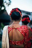 A young Sri Lankan bridesmaid, Kandy, Sri Lanka, Asia