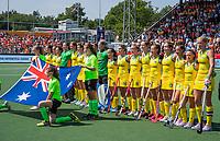AMSTELVEEN - line up team Australia,    voor   de Pro League hockeywedstrijd dames, Nederland-Australie (3-1) COPYRIGHT  KOEN SUYK