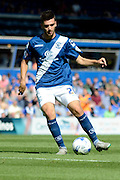 Jon Toral plays the ball during the Sky Bet Championship match between Birmingham City and Reading at St Andrews, Birmingham, England on 8 August 2015. Photo by Alan Franklin.