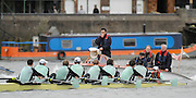 Putney, GREAT BRITAIN,  CUBC, Blue Boat, Cox Rebecca DOWBIGGAN, during the training race between Cambridge University and Canadian National Crew on. Fri. 22 Feb 2008.  Varsity Boat Race 2008. [Mandatory Credit, Peter Spurrier/Intersport-images] Varsity Boat Race, Rowing Course: River Thames, Championship course, Putney to Mortlake 4.25 Miles,