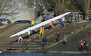 """London. ENGLAND. Saturday 26/01/2013 2013 Quintin Head, River Thames. ..Description - Tideway Sculler Crew carry their Boat back to the Boat House after completing the  2013 Quintin Head of the River Race...[Mandatory Credit: Peter Spurrier/Intersport Images]..[Head Race: Processional"""" Time Trial].."""