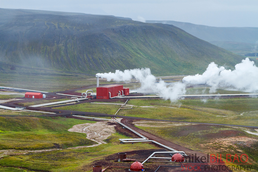 Krafla Geothermal Power Station. Iceland, Europe.