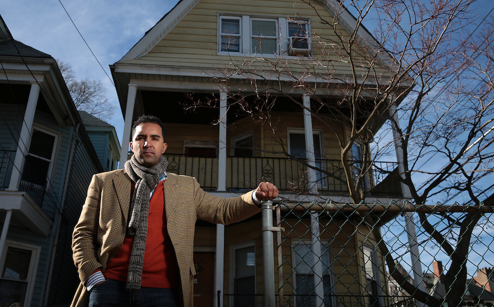 Xavier Mascareñas/Newsday; Mount Vernon City Council member Richard Thomas is photographed in front of his late grandmother's home, where he spent much of childhood, on South First Avenue in Mount Vernon. (Jan. 10, 2013)