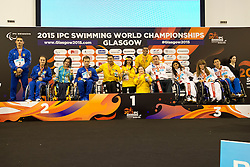 Team Ukraine, Team Brazil, Team Russia UKR, BRA, RUS at 2015 IPC Swimming World Championships -  Mixed 4x50m Freestyle Relay 20pts