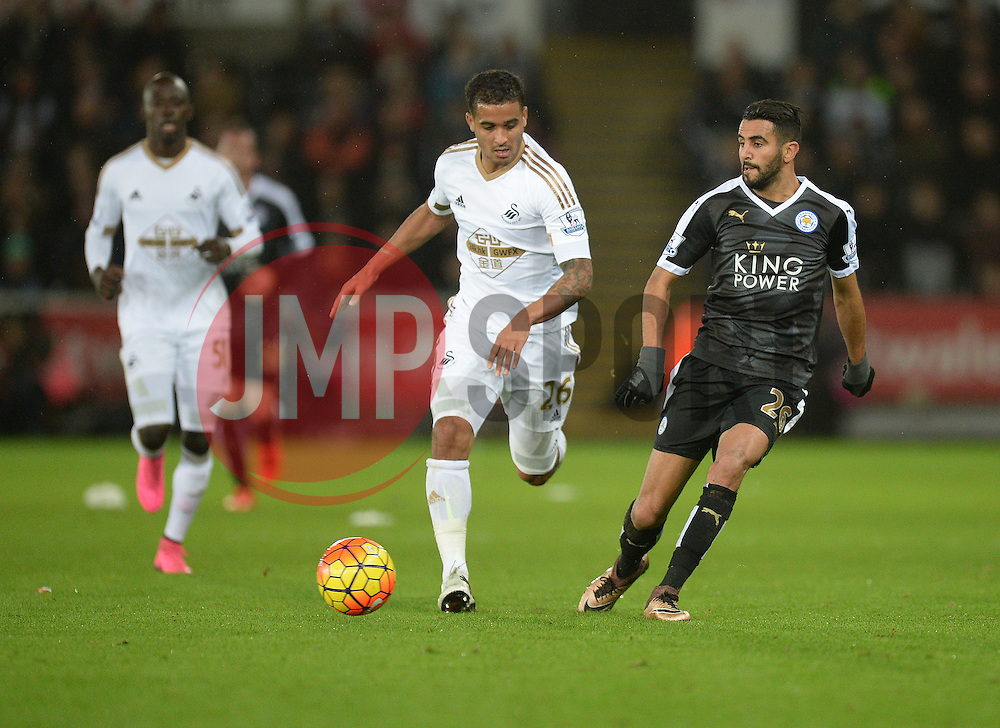 Riyad Mahrez of Leicester City - Mandatory byline: Alex James/JMP - 05/12/2015 - Football - Liberty Stadium - Swansea, Wales - Swansea City v Leicester City - Barclays Premier League