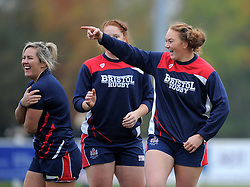 Bristol Ladies during warm-up before facing Saracens Women - Mandatory by-line: Paul Knight/JMP - 30/10/2016 - RUGBY - Cleve RFC - Bristol, England - Bristol Ladies v Saracens Women - RFU Women's Premiership