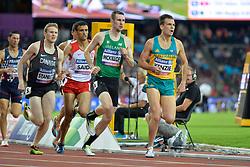 16/07/2017 : Michael McKillop (IRL), Liam Stanley (CAN), Kenzie Deon (AUS), Abbes Saidi (TUN), Men's 800m, T38, Final, at the 2017 World Para Athletics Championships, Olympic Stadium, London, United Kingdom